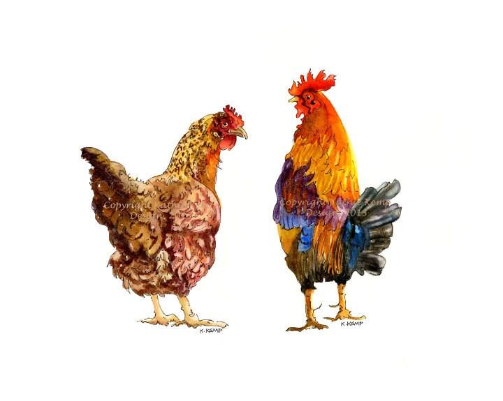 Gallo gallina pollo cocina pared decoración regalo Idea país