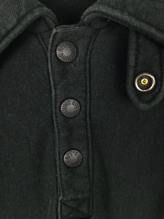 Half Jumper Bathing Logo Sweatshirt Ape Small Up Buttons A Vintage Simple H8qR77