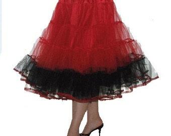 Petticoat Red Black stiff net ROCK 'N' ROLL dance stage