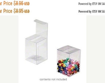 TAX SEASON Stock up 20 Pack Clear Plastic Tuck Top Style Packaging Retail Gift Boxes 2X2X3 Inch Size