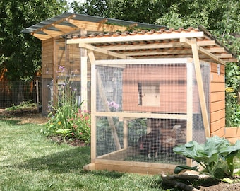 The Garden Coop+Ark Chicken Coop Plans, Two eBooks (PDFs), Instant Download, Imperial Units (Feet/Inches)