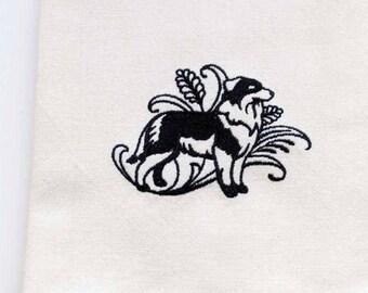 Australian Shepherd Tea Towel | Dog Lover Gift | Personalized Kitchen Towel | Embroidered Kitchen Towel | Embroidered Towel | Dog Tea Towel