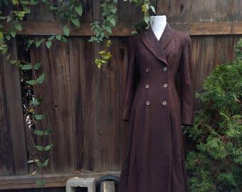 Beautiful Victorian Gothic Steampunk Military Button Up Women's Elegant Long Maxi Fairytale Princess Coat