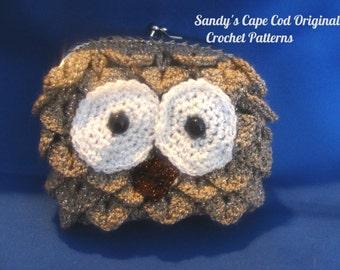Crochet Owl Purse,Crochet Owl Clutch,Crochet Pattern,Crochet PDF 720
