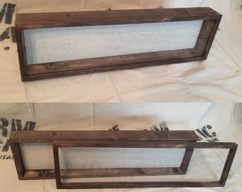 DEEP Shadow Box Frame - 28x7x5 - Display Case, Rustic Shadowbox | Artisan Rustic Collection