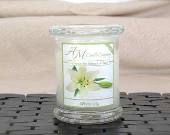 White Lily - Highly Scented Soy Candles by AM Candle Company