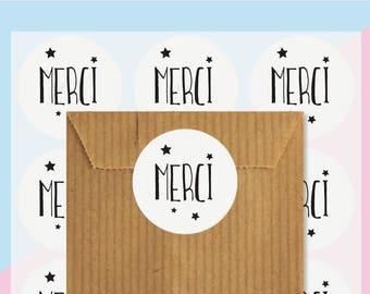 Danke 48 selbstklebende Aufkleber, Geschenkanhänger, Geschenkpapier, Geschenke, Verpackung Aufkleber, Aufkleber