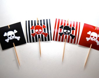 Pirate Cupcake Topper • FLAGS ONLY