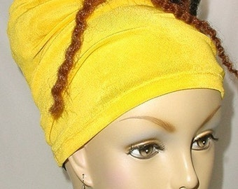Natural Hair Accessories-Headband-Tube-Canary Yellow- Head Wrap - Headwrap - Virtuous Creations