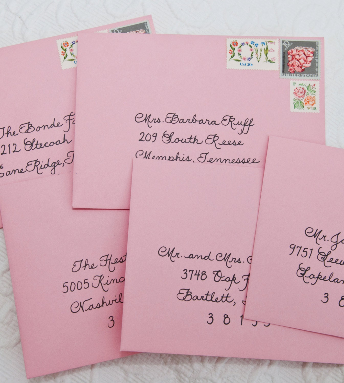 Wedding Calligraphy for Invitation Envelope Addressing Place