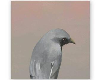 Fictional Bird - 6 x 6 Wings on Wood Decor