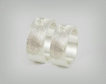 """Partner rings / wedding rings """"Fingerprint"""""""
