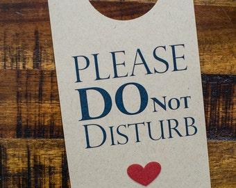 Do Not Disturb Sign Wedding Guest Door Hanger Wedding