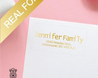 15PCS Gold Foil Return Address Labels / Gold Foil label / Bridal address labels / Self-Adhesive Label / Wedding Labels (GRL002)
