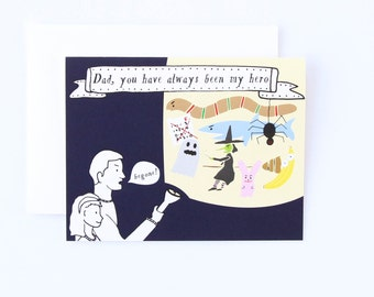 Father's Day You Are My Hero Card - Father's Day Card, Card for Dad, You Are My Hero Card