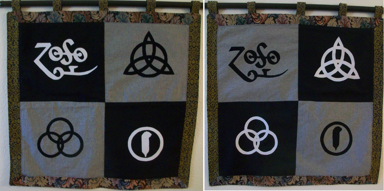 Led zeppelin four symbols two wallhangers description two led zeppelin four symbols wallhangers biocorpaavc