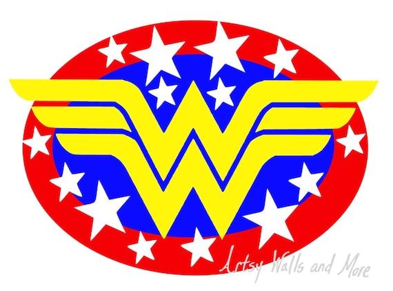 wonder woman super hero svg png jpg clipart cut file for silhouette rh etsystudio com super woman logo outline superwoman logo printable
