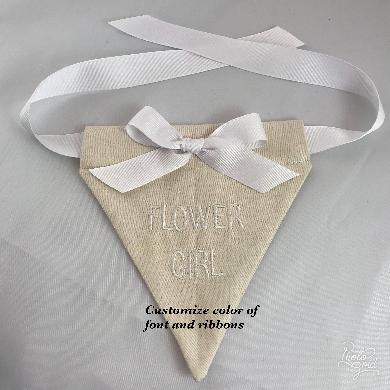 Flower Girl Wedding Bandana SHIPS QUICKLY custom bandana
