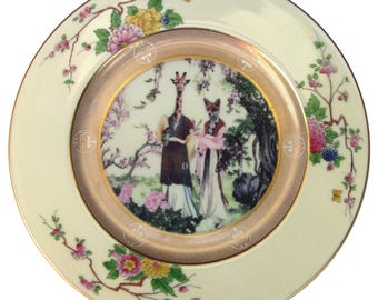 The Geisha Sisters Portrait Plate 10.5""