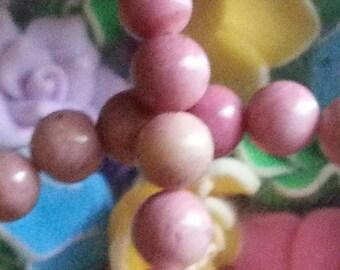 20 diameter 8 mm rhodonite beads, hole 1 mm