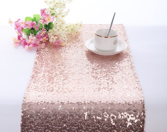 Rose Gold Table Runner, Sequin Table Runner Rose Golden, Sparkle Table  Runner, Bling Table Runner, Wedding Table Runner, Custom Table Runner