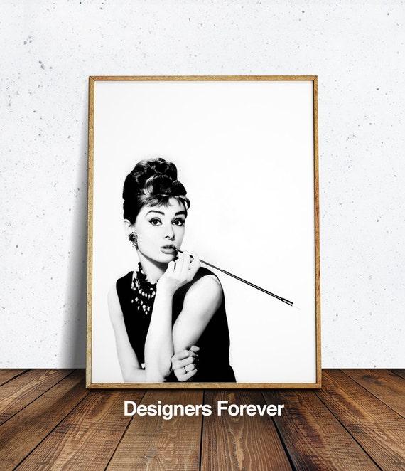 Audrey Hepburn Wall Art, Audrey Hepburn Print Audrey Hepburn, Coco Chanel  Poster,chanel Poster Coco Chanel Print Chanel Printable Chanel Wal