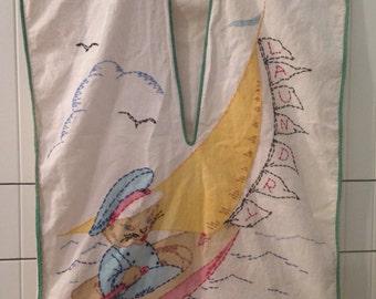Vintage sailing Kitty Laundry kid's laundry bag