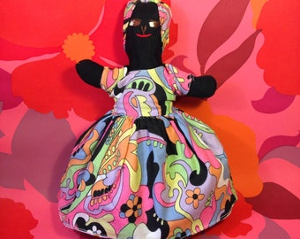 Topsy Turvy Doll - Vintage Doll - Jamaican Doll - Caribbean - Double Ended Doll - Black Doll