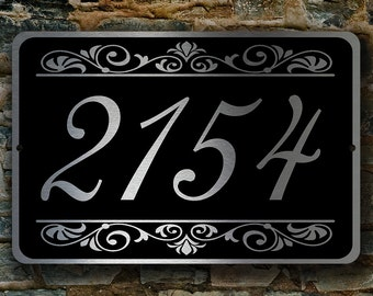 CUSTOM HOUSE NUMBERS Sign, Outdoor Address Signs, Custom Address Plaque, Hanging Address Sign, Personalized House Numbers, Address Plaque