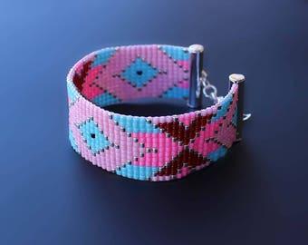 Loom Bracelet, Beaded Bracelet, Boho Bracelet, Tribal Native Bracelet