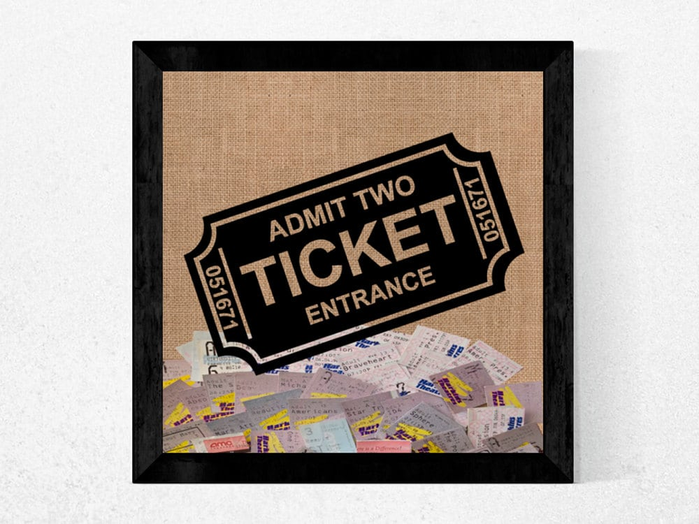 Ticket Stub Shadow Box Frame Save all your Date Night Movie or ...