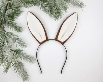 Rabbit Ears Headband Brown Bunny Ears