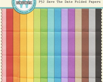 P52 Save The Date Folded Papers