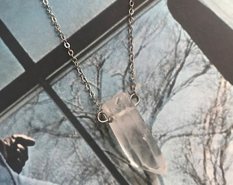 Handmade Sterling Silver Quartz Point necklace