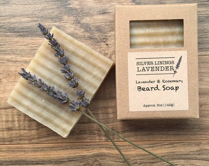 All Natural Lavender Rosemary Beard Soap