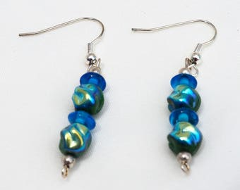 Irridescent Glass Earrings