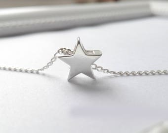 Mini Star Necklace Solid 925 sterling silver (547/s)