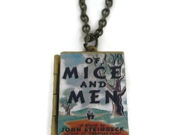 Of Mice and Men Book Locket Necklace