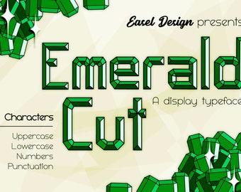 Emerald Cut Font Typeface