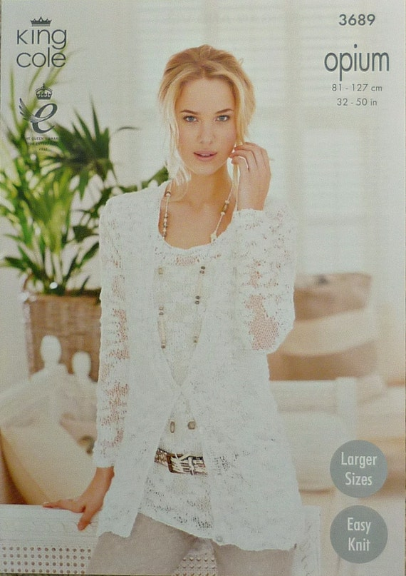 Womens Knitting Pattern K3689 Ladies Long Sleeve Easy Knit
