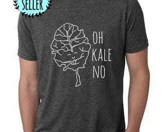 Oh Kale No Men's Tee, Men's Graphic T-Shirt, Charcoal Gray, Shirts with Sayings
