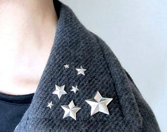 Star PIN Brooch 7 pieces