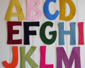 "Wool Felt Alphabet Set - 3"" Tall - Great for Learning"
