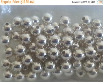 SAVE 20% SALE 100 pieces Sterling Silver 4mm Smooth Round Beads MADE in Usa