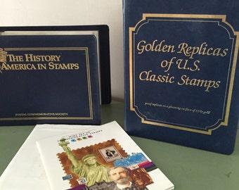US Postal Stamp Albums, Paper Ephemera, Vintage, Stamps, Retro, Collectibles, Collections, Commemorative, Antique Discoveries