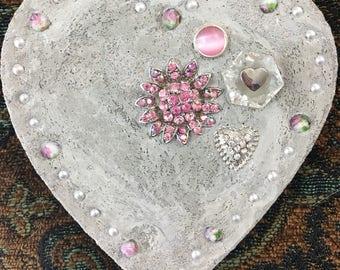 "Mixed Media ""Pink Ice"" Valentine, Valentine's Day, Treasure Stone"
