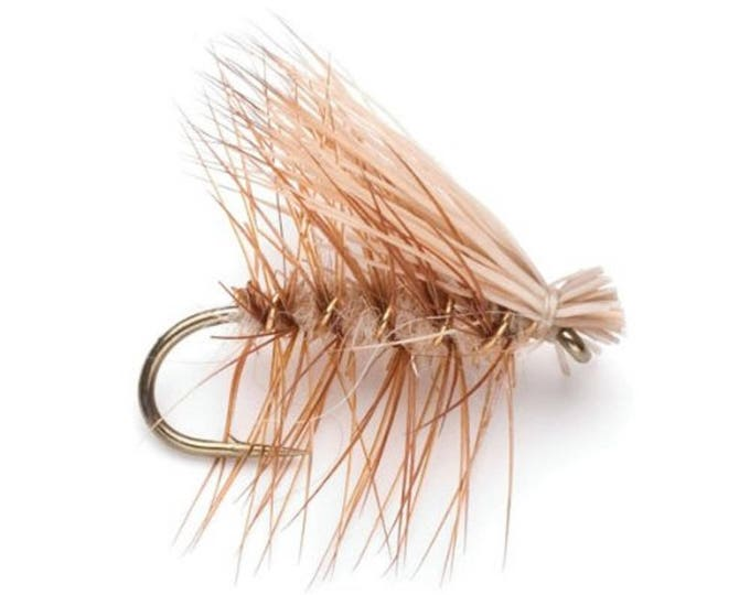 Tan Elk Hair Caddis Classic Dry Fly - Hook Size 18 - Hand-Tied Fly Fishing Trout Flies