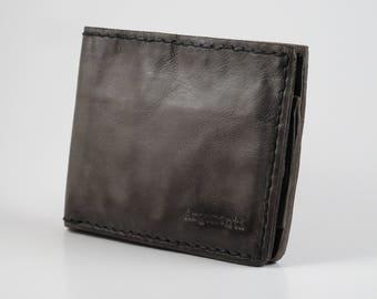 Argomenti 100% Handmade Leather Wallet - Stone Washed