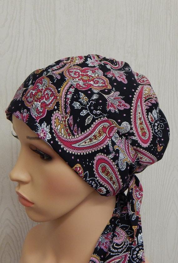 Frauen Chemo Kopf tragen binden Krebspatienten hintere Kappe