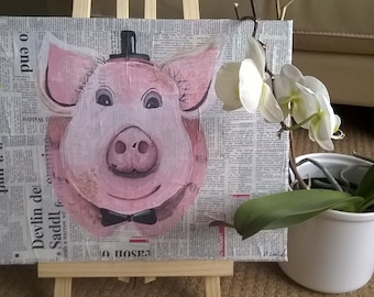 Acrylic 'cheeky piggy'